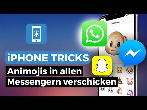 Animojis in allen Messengern verschicken - Animoji per Whatsapp, Messenger oder Snapchat