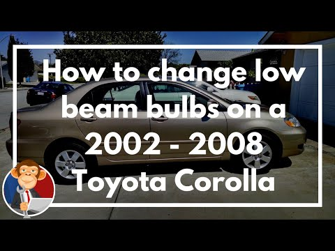 How to change low beam headlight bulbs on 2002-2008 Toyota Corolla - DIY - Educated Grease Monkey