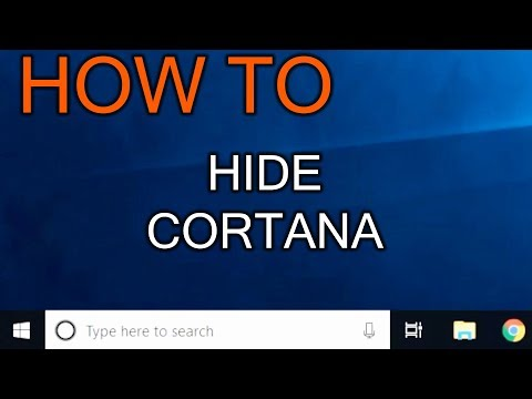 How to Hide Cortana from windows 10 menu bar (in 5 seconds)