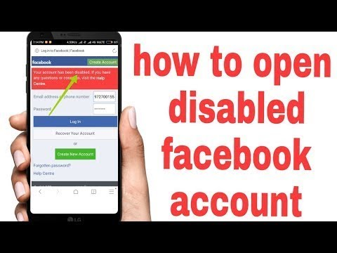 How To Open Facebook Disabed Account 2018 Trick