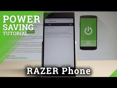 How to Use Battery Saver in RAZER Phone - Power Saving Mode  HardReset.Info