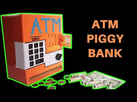 How to make an ATM PIGGY BANK at Home - Just5mins #2