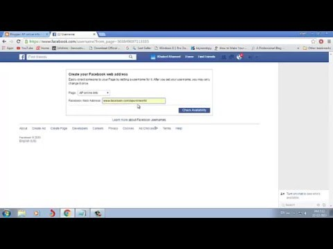 How to create custom web address for facebook page