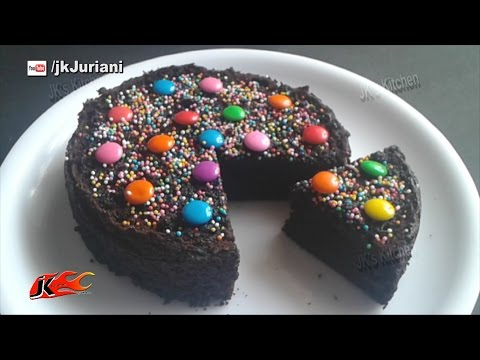 How to make a Chocolate cake using a ready mix in a Pressure Cooker  Recipe by JK's Kitchen 053