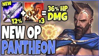 NEW OP BOTRK PANTHEON BUILD 🔥 36% INSTANT HP DMG 🔥 LoL Top Pantheon vs Aatrox Season 10 Gameplay