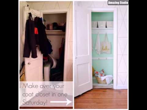 23 DIY Coat Closet Makeover