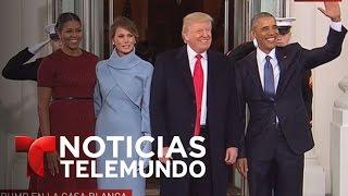 La familia Obama recibe a Donald Trump en la Casa Blanca | Noticiero | Noticias Telemundo