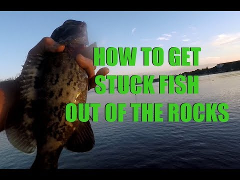 How to Get Stuck Fish Out Hung In Rocks