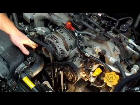 How To Replace Both Subaru Drive Belts