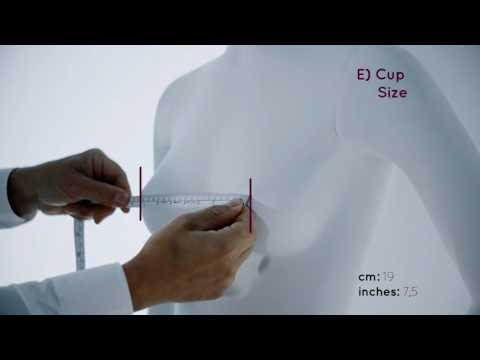 How to measure - E) Cup Size