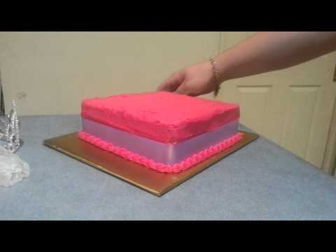 Easy DIY Cake Decor : Glitter princess cake