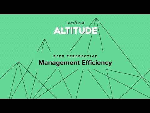 Altitude 2018: Peer Perspective - Management Efficiency