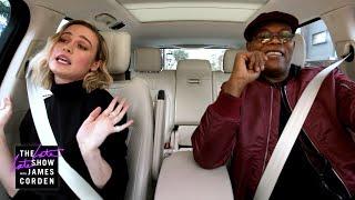 Download Samuel L. Jackson & Brie Larson Sing Ariana Grande's 7 Rings - Carpool Karaoke: The Series Preview - Video