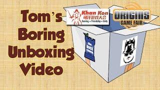 Download Tom's Boring Unboxing - KhanKon & Origins! Video