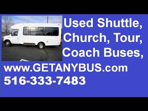 Used bus for sale in NY | 2009 Ford E350 12 + 2 Wheelchair Shuttle Bus Sales NY
