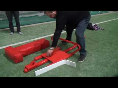 One man football sled - Ice Bear Installation Oy