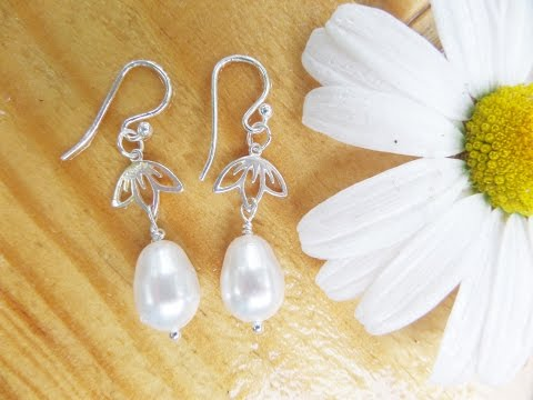 DIY Lotus Pearl Earrings Tutorial | Wedding Jewelry Series | eclecticdesigns
