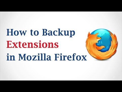 How to Backup Firefox Extensions