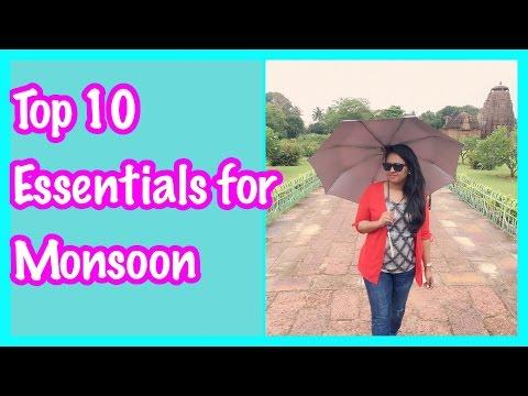 TOP 10 Essentials for Monsoon 2016  Nivi Mudaliar   