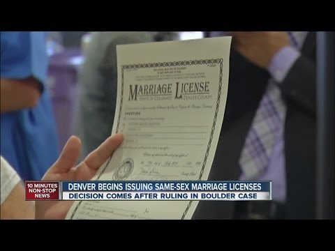 Denver clerk issues same-sex marriage licenses