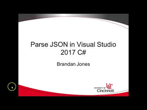Read & Parse JSON into objects in C# Visual Studio 2017