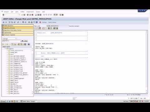 SAP ABAP Module Pool( screen )  Normal