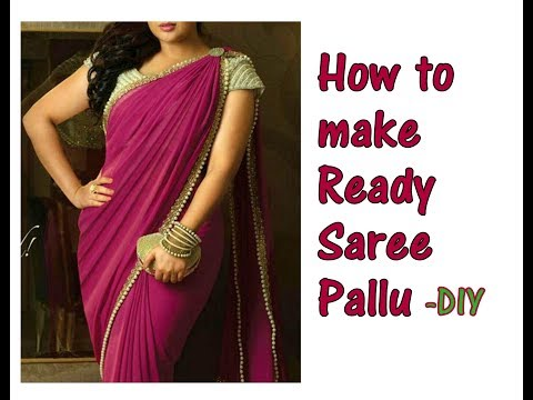 DIY I How to make Ready Saree Pallu in just 2 Mins for Bollywood Celebrity appeal | designing sari