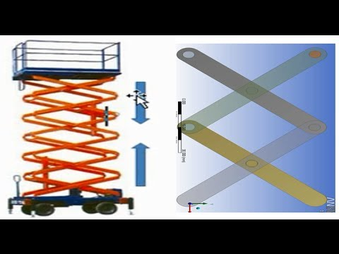Ansys rigid dynamics tutorial :Scissor Lift Analysis : Part 1 Assembly in design modeler