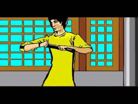 bruce lee nunchucks animation
