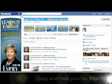 Facebook Tip Changing Employment to Your Fan Page