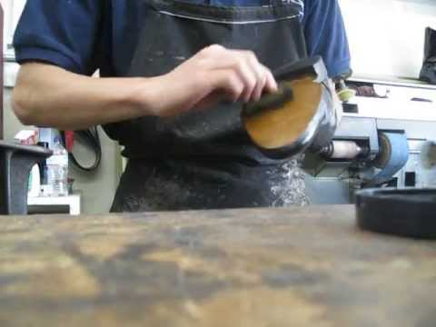 Shoe repair - how to sand and finish sole with bottom stain