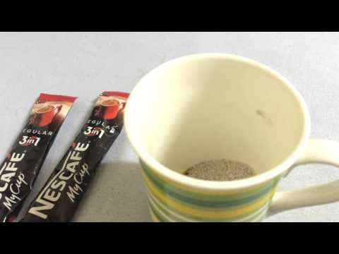 How to Make perfect instant coffee in just 1 step - nescafe mycup 3 in1
