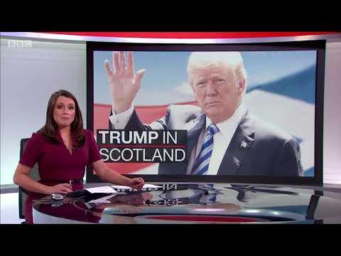 Preparations for Donald Trump's arrival in Scotland