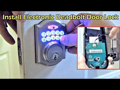 Electronic Deadbolt Door Lock Install - Defiant