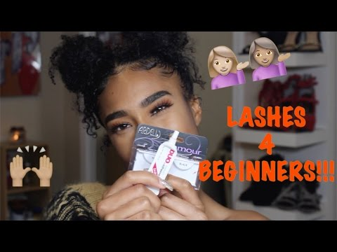 HOW TO APPLY LASHES FOR BEGINNERS | NO TWEEZERS!!