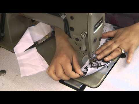 start of sewing neckline