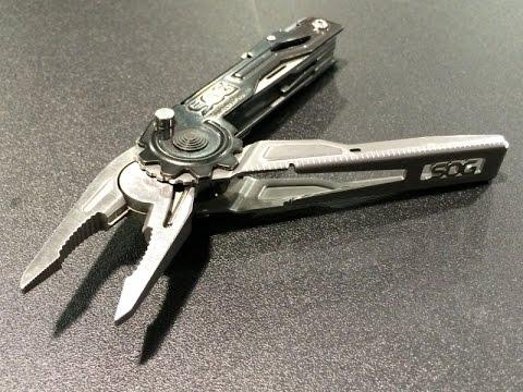 SOG Switch Plier Multi-Tool, Tooth Lock, and Blade Light Folder: EDC Option - Shot Show 2015.