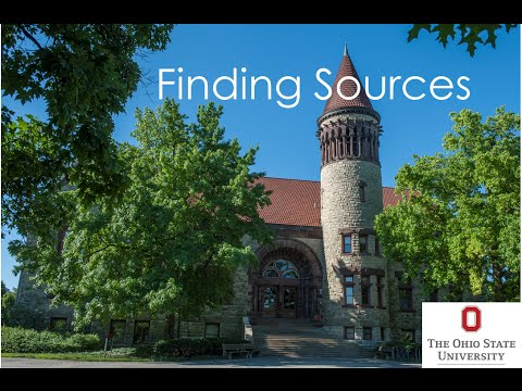 Finding Sources for a Research Paper