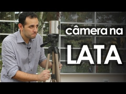 Câmera fotográfica pinhole de lata (experiência de física)