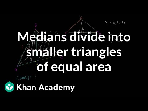 Medians divide into smaller triangles of equal area | Geometry | Khan Academy