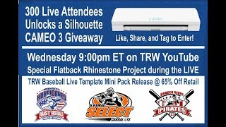 Trw Live Silhouette Cameo 3 Giveaway And Flatback Rhinestone Project
