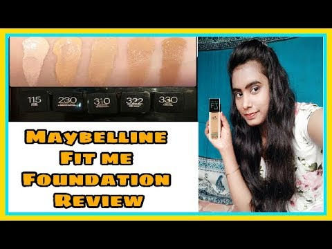 Maybelline fit me foundation review | how to find the right foundation shade online
