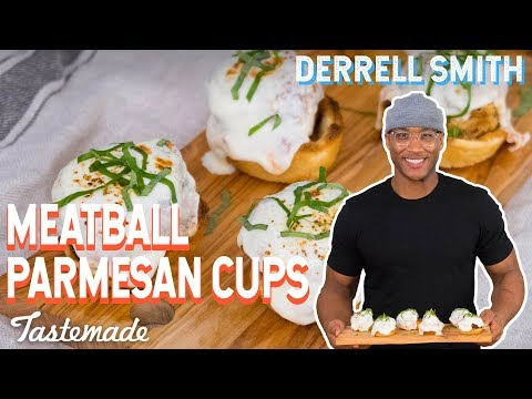 Meatball Parmesan Cups I Derrell Smith