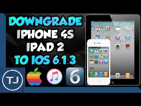 Easily Downgrade iPhone 4S & iPad 2 To iOS 6.1.3 (Using iTunes!) 2018!