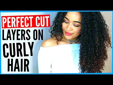 DIY LAYERED HAIRCUT ON CURLY HAIR! How to Cut Curly Hair into Layers by yourself by Lana Summer