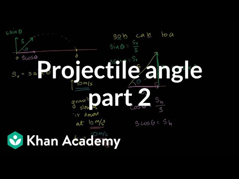 Optimal angle for a projectile part 2: Hangtime | Physics | Khan Academy