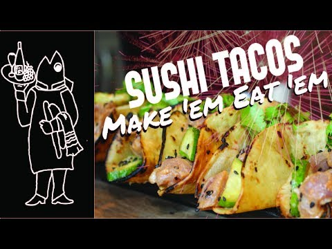 Fish Tacos😜? Catch And Cook Tuna Recipes Sushi Tuna Tacos 😝How to Make Sushi Tuna Tacos Crispy