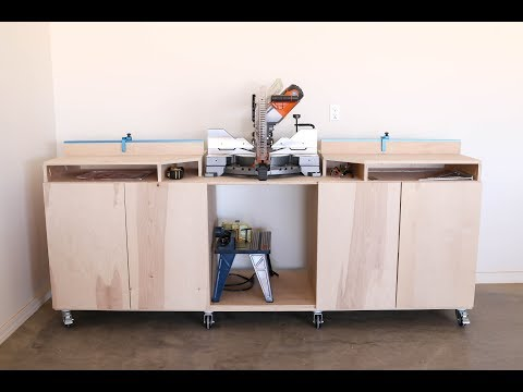 How To Build A Mobile Miter Saw Bench