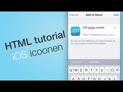 iOS home screen HTML tutorial - Je logo als bookmark icon (Dutch/NL Tutorial)