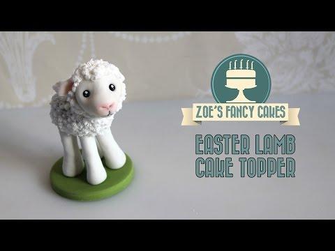 Fondant lamb cake topper how to make a lamb figure cute animal cake decorating tutorials